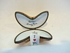 Peint Main Limoges Trinket-Fortune Cookie