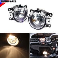 Driver Passenger Sides Fog Light Lamps w/ H11 Bulbs For Acura Honda Ford Nissan