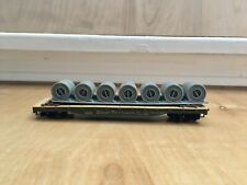 Mantua/Tyco HO Scale Great Northern 42953 Flat Car with Coil Load No Box