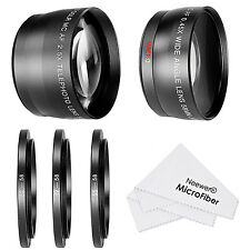 Neewer 58MM 0.45X Wide Angle Lens and 2.5X Telephoto Lens Kit for Canon