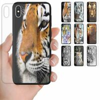 For OPPO Series  - Tiger Theme Print Tempered Glass Back Case Mobile Phone Cover