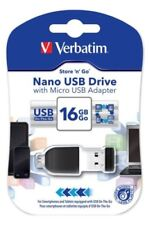 Unidad USB flash negro Verbatim para ordenadores y tablets para 16GB