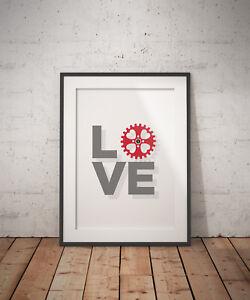 Motivational Cycling Art Prints - Love