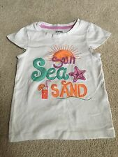GYMBOREE 4 4T Shirt Beach Sun Sand White Top Shortsleeve Spring Summer