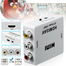 New ListingHdmi To Rca Mini Composite 1080P Audio Video Av Cvbs Adapter Converter For Tv Us