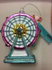 Ferris Wheel Glass Christmas Ornament by Ashland NEW