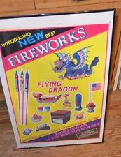 Vintage Flying Dragon  Brand  Fire Cracker Poster FRAME NOT INCLUDED