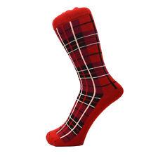 Mens Ankle Everyday Ankle Scottish Design Red Tartan Socks Size 6 to 11