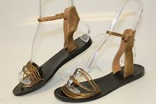 Coach MISMATCH 7.5 7 B Womens Melynda NEW Metallic Leather Sandals Shoes