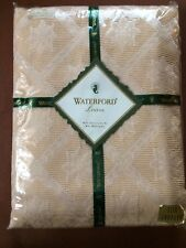 Waterford Linens Banquet Size Oblong elegant trellis Tablecloth Table Cover