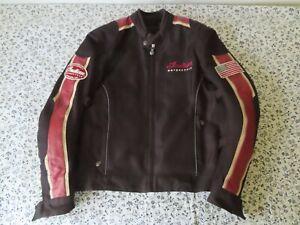 GENUINE INDIAN MOTORCYCLE BRAND MEN'S  MESH JACKET BLACK/RED S