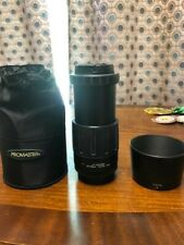 PROMASTER TAMRON 80-210mm F4.5-5.6 ZOOM LENS, UV, CAPS, POUCH, NIKON AF