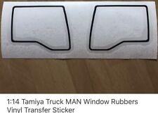 1/14 Tamiya Truck Man Windows Rubber Vinyl Transfer Stickers Decals Blackout