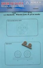 Aires 1/72 A-4 Skyhawk Wheels (Late) and paint masks # 7242
