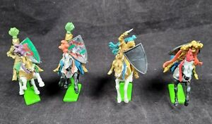 Vintage Britians Templar Painted Knight Figures On Horses 1971 Lot Of 4
