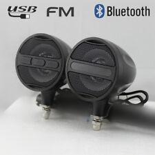 2x Alu 12v Bluetooth Motorrad stereo Lautsprecher Radio Audio USB FM wasserdicht