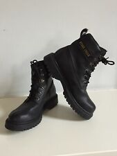 STONE CREEK BLACK WORK BOOTS - SIZE 9