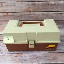 Vintage Plano Tackle Box No Tray Letter P on front lock Sport Fishing VTG