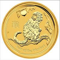 2016-P $15 1/10oz Gold Australian Year of the Monkey .9999 fine BU