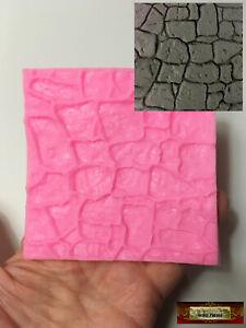 M00702 MOREZMORE Miniature Cobble Stone Pebble Texture Cake Clay Silicone Mold