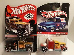 "Hot Wheel 2011 Club "" Convoy Custom "" plus Slick Rides Pennzoil truck, black w/"