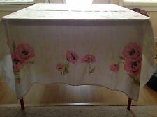 Vintage Look Table Cloth, Pink Flowers.