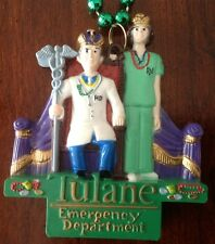 Mardi Gras Plastic Necklace - Tulane Emergency Department with Doctor and Nurse