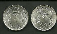 MONETA SAN MARINO FDC LIRE 500 ag 835/.. ARGENTO SILVER  1981 LA PACE PAX  PEACE