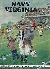 NOS New US Navy Vs University of Virginia Football Game Program 11/18/61 Nice