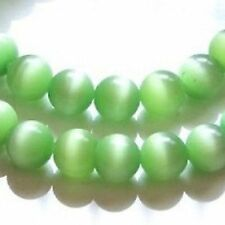 50 PC 6mm Ojo De Gato Perlas-color verde pálido-a3800
