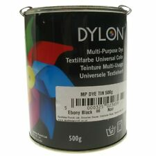 Dylon Multi Purpose Dye 500g Tin - EBONY BLACK - FREE P&P
