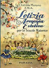 SILLABARI e SCOLASTICI_Morano_Letizia, Armonia Estetica - Ed. Paravia, 1953*>>>