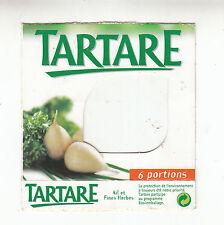 Etiquette de Fromage  Tartare 6 Portions   N° 90