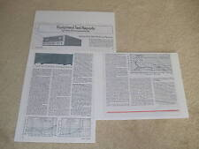 Sansui 9090 Reciever Review, 3 pgs, Full Test, 1976