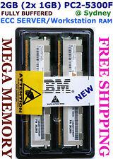 NEW 2GB (2x 1GB) DDR2 PC2-5300F ECC SERVER Memory IBM