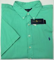 NWT $89 Polo Ralph Lauren SS Feather Weight Twill Shirt Mens 2XB XLT 3XLT Green