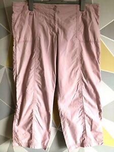 y2k CHEROKEE Ladies Size 18 Pale Pink Cargo Trousers Retro VGC
