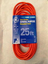 Ge 25 ft. 3-Wire 16-Gauge Grounded Indoor/Outdoor Extension Cord