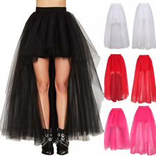 Layers Princess Ballet Tutu Skirt Long Women Tulle Skirts Wedding Prom Ball Gown