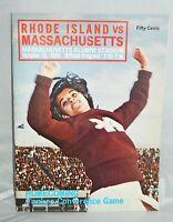 VTG 1969 UMass Massachusetts Vs. Rhode Island URI Homecoming Football Program