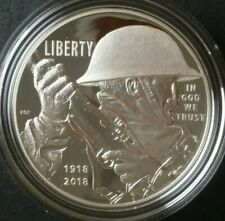 2018 P Proof $1 World War I Centennial Silver Dollar