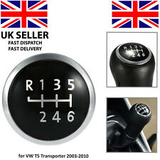 6 Velocidad Gear Knob EMBLEM BADGE Cubierta Tapa VW T5 Transporter 2003-2010 Reemplazo