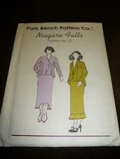 Park Bench Pattern Co NIAGARA FALLS Sewing Pattern No 21 Jacket Skirt UNCUT FF