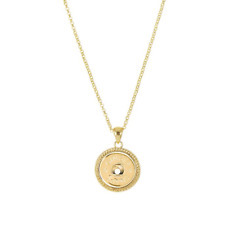 GINGER SNAPS™ 1 Snap GOLD TONE ROPE NECKLACE SN95-72