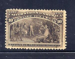 US Stamps  - #237 - MNG - 10 cent 1893 Columbian Expo Issue - CV  $90