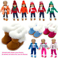 Snow Boots Shoes Accessories for 18 Inch American Girl Doll Outfit Costume