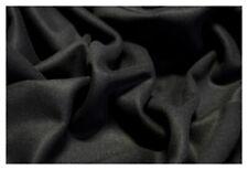 Black Cashmere Melton Wool Coat Jacket Weight Soft Apparel 20 oz Fabric 60