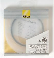NEW Nikon NC Neutral Color filter protection UV 72mm
