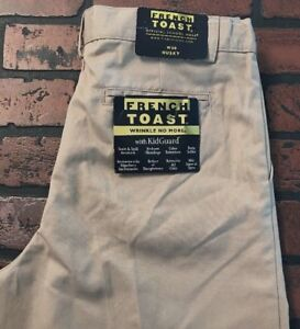 French Toast Boys' Pleated Wrinkle No More Pants Size w30