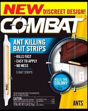 Combat Ant Fast Killing Bait Strips 5 Bait Strips Ant Killer Poison NEW